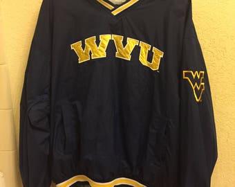 Starter NCAA WVU West Virginia Mountaineers Vintage Pullover Sweatshirt Men's Size Large