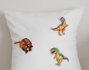 Dinosaur Embroidery 2D Magnetic Pillow Case