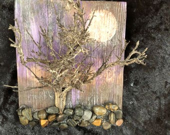 Hand Painted Sagebrush Wall Decor