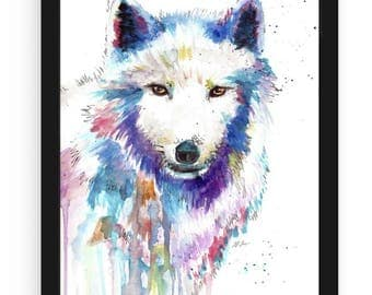 Wolf Watercolor Print