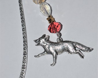 Running Fox Bead Bookmark in English Pewter and Gift Boxed, Animal, Countryside, Wildlife
