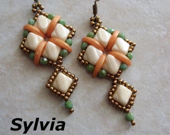 Sylvia earrings beading pattern