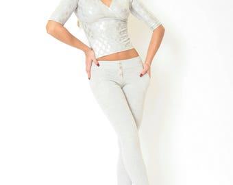 Cotton Jumpsuit Silver
