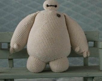 handmade crochet cuddle toy baymax