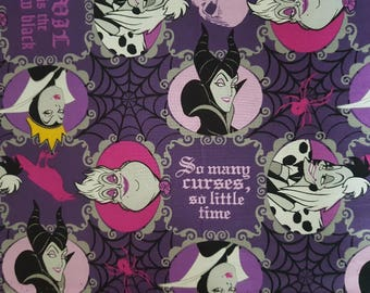 Springs Creative Evil Is The New Black Disney Villains Licensed Fabric