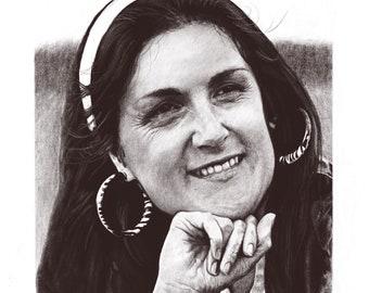 Original portrait drawn in pencil - wedding, birthday, anniversary present