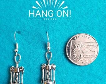 Handmade Tibetan Silver Bottle Opener Earrings