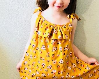 Yellow Midi Sundress