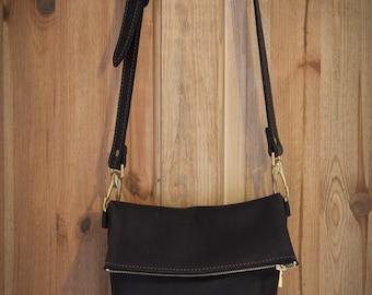 Cross body fold over bag