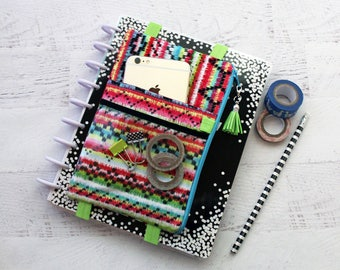 Bullet journal accessories - planner cover - serape - planner bag - happy planner cover - planner accessories  - bullet journal bag - pouch