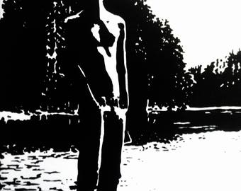 Shirtless In Seattle Art Print Male Semi Nude 6x4