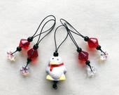 PENGUIN stitch markers knitting gift row counter tool snag free stitchmarkers stocking stuffer christmas winter snowflakes holiday gift