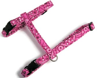 Cat Harness - Raspberry Pink Bandana - Cute, Soft and Fancy for Cats and Kittens