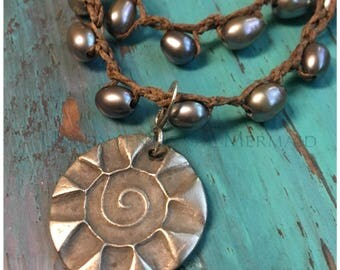 "Bohemian Jewelry, Sun Pendant, Sunburst Pendant, Copper Pendant, Removable 1"" White Copper Sunburst Pendant"