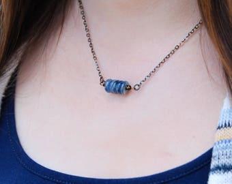 five deep breaths kyanite necklace