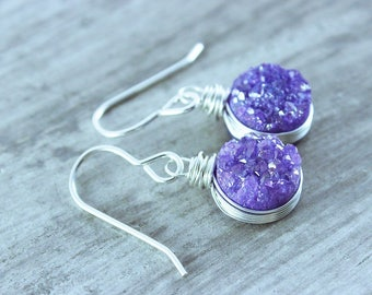 Amethyst Earrings, Purple Earrings, Amethyst, Amethyst Earrings Sterling Silver, Amethyst Jewelry, Jewelry, Earring, Earrings, Gemstone