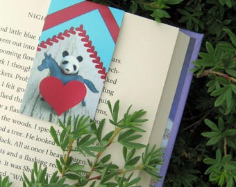 Panda Horse Magnetic Bookmark