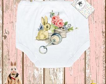 Baby Gift, Potty Pants, Training Pants, Bunny Pants, Toddler Pants, Toddler Undies, Vintage Nursery, Trainer Pants, Potty Pants, 2T, 3T
