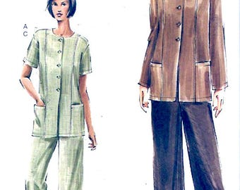 Casual chic tunic pants sewing pattern summer style Vogue 7753 Sz 14 to 18 UNCUT