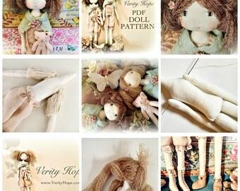 Verity Hope English cloth doll pdf pattern