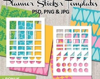 Make your own planner sticker / DIY Kit Erin Condren printable planner stickers templates, commercial use / full box, half box design
