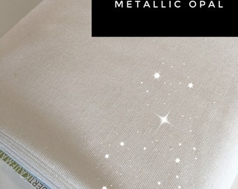 Wedding Decor, Linen Blend, Cotton Linen, Metallic fabric, Iridescent Sparkle Fabric, Essex Linen, Apparel, Metallic Essex in Opal