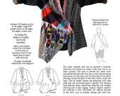 Marama Coat, womens PDF sewing pattern