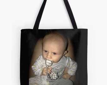 Sample personalized custom photo tote bag gift, personalized gift Mother's Day Father's Day grandparents gift birthday graduation holiday