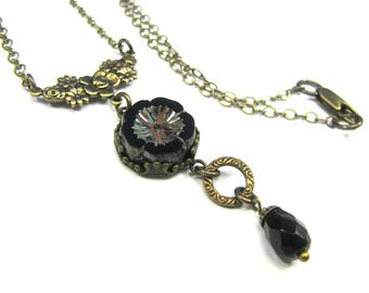 "Bohemian Inspired Czech Glass Collection - ""Coco"" Necklace"