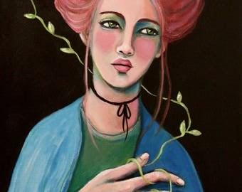 Waiting For Your Return - Original Portrait Painting