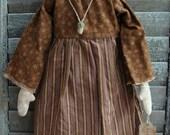 Primitive Handmade Folk Art Rag Doll