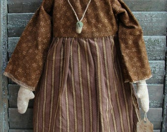 Primitive Handmade Folk Art Rag Doll