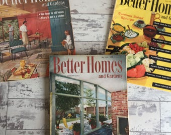 Vintage Magazines Better Homes and Gardens 1956 Home Interior Garden Advertising Mid Century Modern Large Format