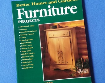Furniture Projects, Better Homes and Gardens Wood Shop Library, first edition 1996 DIY furniture book