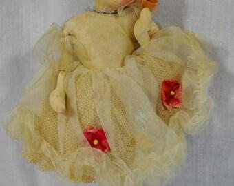 Stockinette Big Eyed Doll Ballerina Dancer Cloth Doll