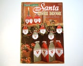 SANTA Home Decor Quick & Easy Plastic Canvas PATTERNS - Gift Boxes, Window Screen, Candle Holders, Santa Boxes and Ornaments