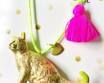 Cat Necklace. Kids Necklace. Kids Jewelry. Girls Cat Necklace. Cat Jewelry. Girls Necklace. Cat Lover Gift. Girls Jewelry. Cat Lady Gift.
