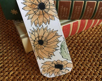 Watercolor Bookmark  of  Sunflowers