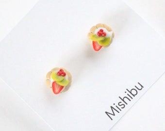 Strawberry&Kiwi Tart Earrings