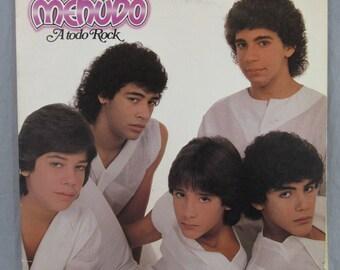 """Menudo A Todo Rock Record Vintage 12"""" Vinyl LP Album Padosa IL8-7241"""