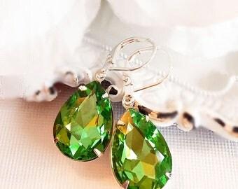 Birthstone Earrings - August - Peridot Earrings - Gift - CAMBRIDGE Peridot