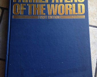 1989 Family Atlas of the World Coffee Table Book by the Times