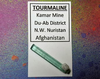 Sale TOURMALINE Natural Double Terminated Aqua Blue Crystal From Nuristan Afghanistan
