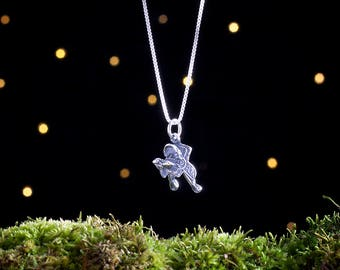 Sterling Silver Western Saddle - 3D Double Sided - (Charm, Necklace or Earrings)