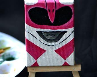 Itty bitty Pink Ranger - mini power ranger painting