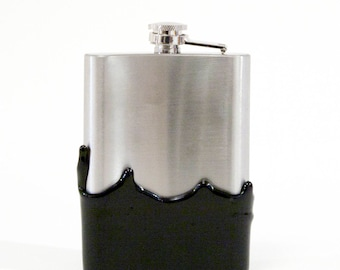 Hand Dipped 8oz Lounge Hip Flask