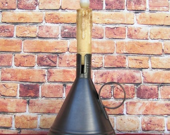 Colonial candle cone - Antique tin finish - tin candle holder - lighting - primitive lighting - antique candle holder - colonial tin