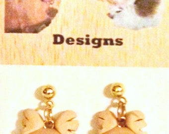 Red Nose Reindeer w/ jingle Bell Polymer Clay Earrings