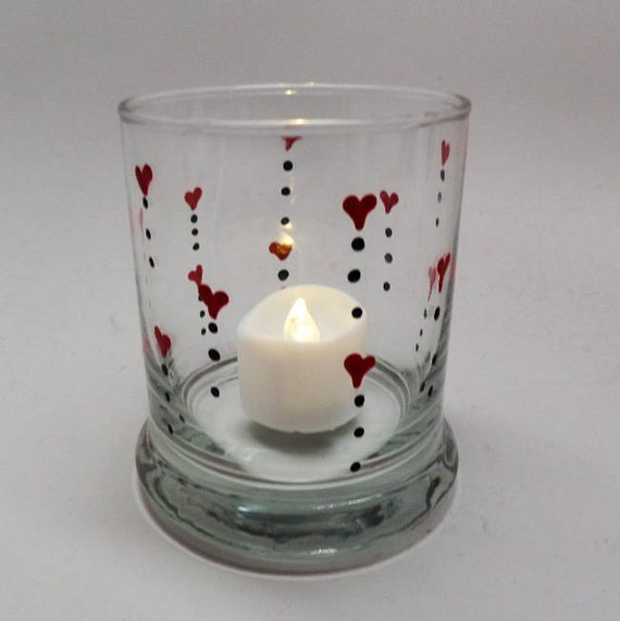 Hand Painted Valentine's Day Candle holder