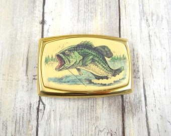 Vintage Belt Buckle with Largemouth Bass
